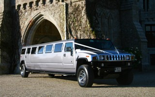 Silver H2 Hummer